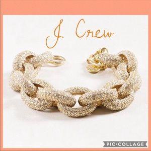 J. CREW 💛 Classic Pave Chain Link Bracelet